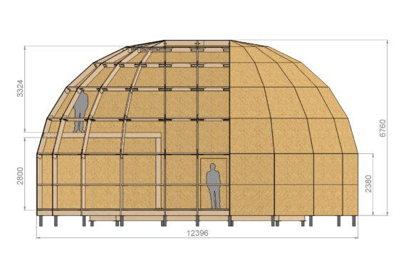 Kuppelmaja karkass Z10HL